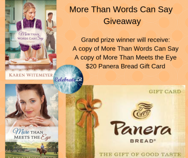 More Than Words Can Say Giveaway